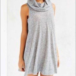 Urban Outfitters BDG Grey Cowl Neck Mini Dress S